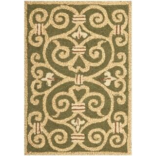 Safavieh Hand-made Chelsea Light Green Wool Rug (2'9 x 4'9)