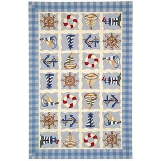 Safavieh Hand-made Chelsea Ivory Wool Rug (6' x 9')