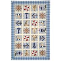 Safavieh Handmade Chelsea Ivory Wool Rug - 6' x 9'