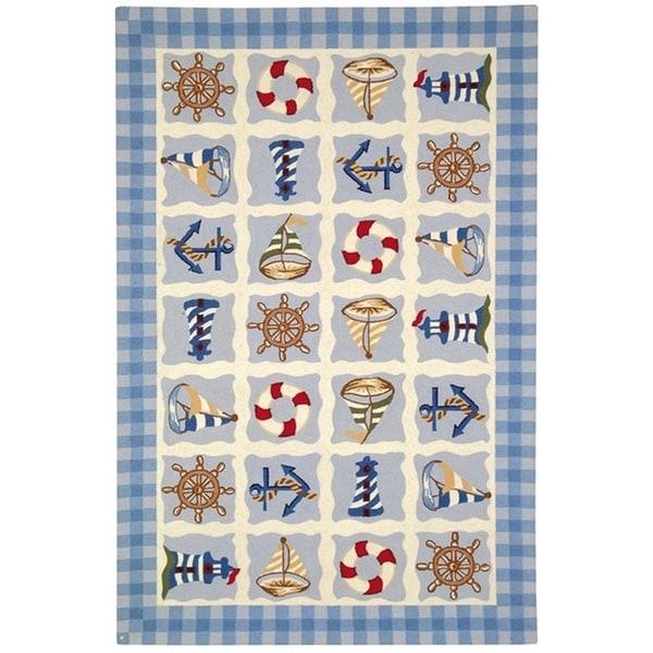 Safavieh Hand-made Chelsea Ivory Wool Rug (8'9 x 11'9)
