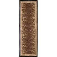 Safavieh Handmade Chelsea Black/ Brown Wool Rug - 2'6 x 16'
