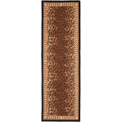 "Safavieh Hand-made Chelsea Black/ Brown Wool Rug - 2'6"" x 20'"