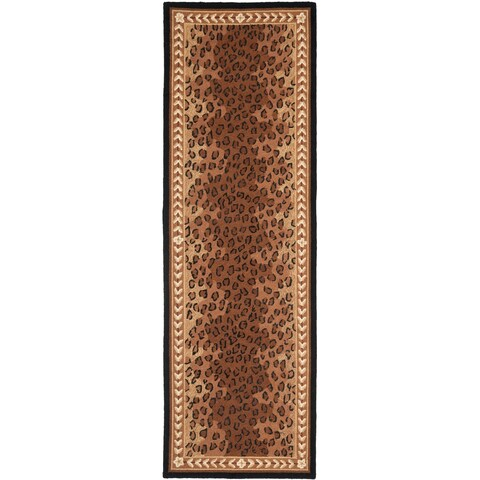 "Safavieh Hand-made Chelsea Black/ Brown Wool Rug - 2'6"" x 22'"