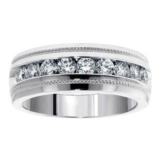 14k/ 18k Gold 1 ct. Brilliant-cut Diamond Men's Ring