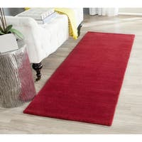 Safavieh Handmade Himalaya Solid Red Wool Runner Rug - 2'3 x 6'