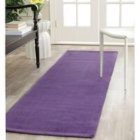 Safavieh Handmade Himalaya Solid Purple Wool Runner Rug - 2'3 x 10'