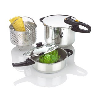 Duo Combi 5-piece Pressure Cooker Set