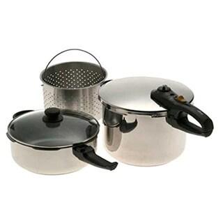 Duo Combi 5-piece Pressure Cooker Set