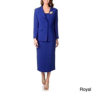 c7a93193a0e Giovanna Signature Women s Beauty of Jacquard 3-piece Skirt Suit. 4.4 of 5  Review Stars. 9. Quick View