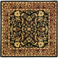 Safavieh Handmade Heritage Timeless Traditional Black/ Red Wool Rug - 10' square