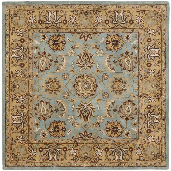 Safavieh Handmade Heritage Timeless Traditional Blue/ Gold Wool Rug (10' Square)