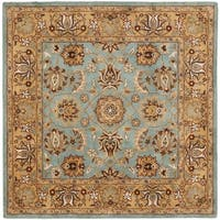 Safavieh Handmade Heritage Timeless Traditional Blue/ Gold Wool Rug - 10' square