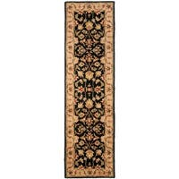 "Safavieh Handmade Heritage Timeless Traditional Black/ Gold Wool Rug - 2'3"" x 18'"