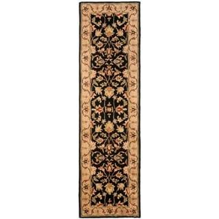 Safavieh Handmade Heritage Timeless Traditional Black/ Gold Wool Rug (2'3 x 18')