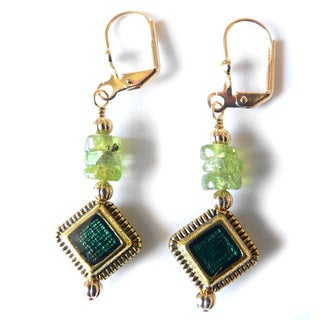 'Savannah' Peridot Dangle Earrings