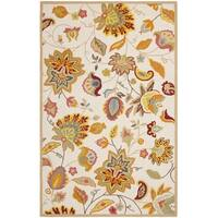 Safavieh Hand-Hooked Four Seasons Ivory / Yellow Rug - 8' x 10'