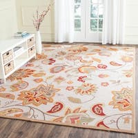 Safavieh Hand-Hooked Four Seasons Ivory / Yellow Rug - 8' x 10'