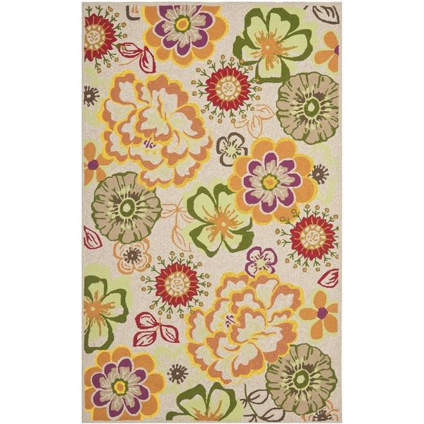 Safavieh Hand-Hooked Four Seasons Ivory / Green Polyester Rug - Ivory/Green - 8' x 10'
