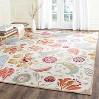 Safavieh Hand-Hooked Four Seasons Floral Ivory / Grey Polyester Rug - 8' x 10'