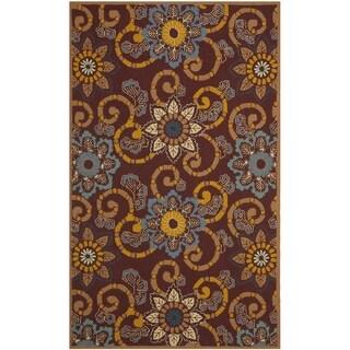 Safavieh Hand-Hooked Four Seasons Floral Scrollwork Burgundy Rug - 4' x 6'