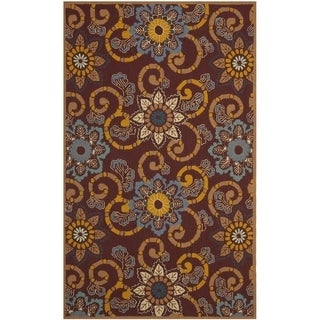 Safavieh Hand-Hooked Four Seasons Floral Scrollwork Burgundy Rug (8' x 10')