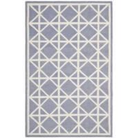 Safavieh Hand-woven Moroccan Reversible Dhurrie Purple/ Ivory Wool Rug - 9' x 12'