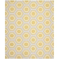Safavieh Hand-woven Moroccan Reversible Dhurrie Ivory/ Yellow Wool Rug - 6' x 9'