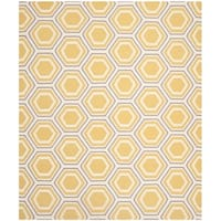 Safavieh Hand-woven Moroccan Reversible Dhurrie Ivory/ Yellow Wool Rug - 9' x 12'
