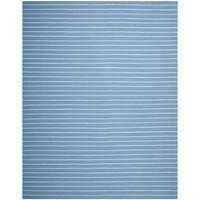 Safavieh Hand-woven Moroccan Reversible Dhurrie Blue Wool Rug - 6' x 9'