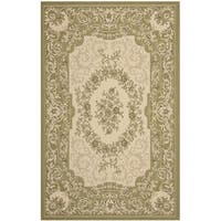Safavieh Indoor/ Outdoor Courtyard Cream/ Green Rug - 8' x 11'