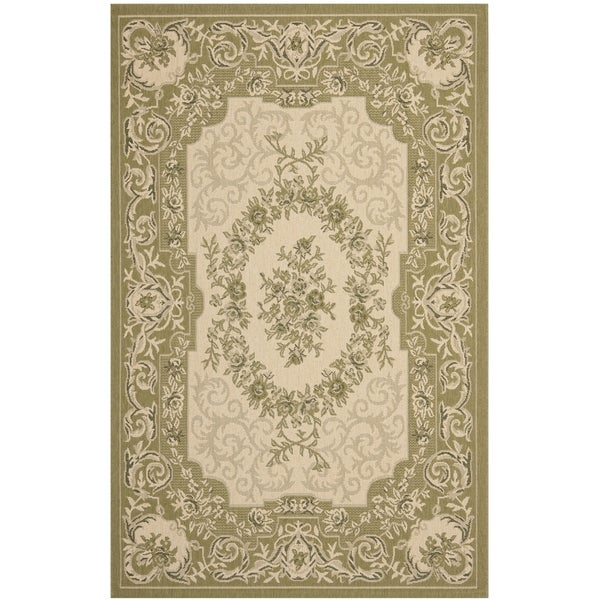 Shop Safavieh Indoor Outdoor Courtyard Cream Green Rug