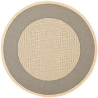 "Safavieh Indoor/ Outdoor Courtyard Grey/ Cream Rug - 7'10"" x 7'10"" round"