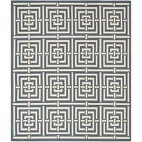 Safavieh Geometric Indoor/Outdoor Courtyard Navy/Beige Rug - 9' x 12'