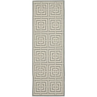 Safavieh Indoor/ Outdoor Courtyard Grey/ Cream Rug (2'3 x 20')