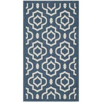Safavieh Abstract Indoor/Outdoor Courtyard Navy/Beige Rug - 2' x 3'7