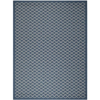 Safavieh Indoor/Outdoor Courtyard Navy/Beige Area Rug (9' x 12')