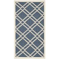 Safavieh Diamond-Pattern Indoor/Outdoor Courtyard Navy/Beige Rug - 2' x 3'7