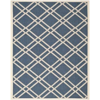 Safavieh Diamond-Patterned Indoor/Outdoor Courtyard Navy/Beige Rug (9' x 12')|https://ak1.ostkcdn.com/images/products/8059481/Safavieh-Diamond-Patterned-Indoor-Outdoor-Courtyard-Navy-Beige-Rug-9-x-12-P15416188.jpg?impolicy=medium