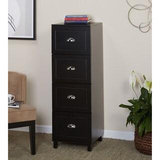 Simple Living Bradley 4-drawer Filing Cabinet (Option: Black 4 Drawer File)