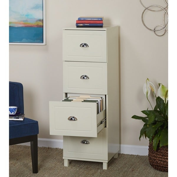 Simple Living Bradley 4 Drawer Filing Cabinet   Free Shipping Today    Overstock.com   15415914