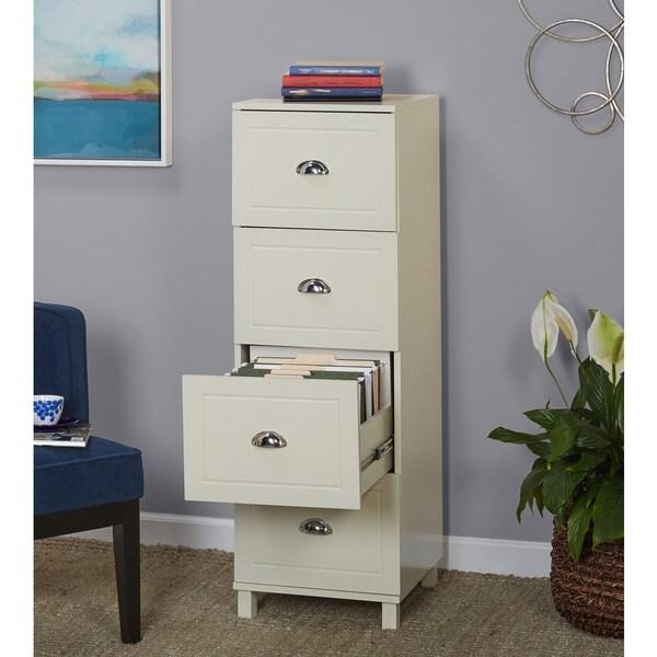 Simple Living Bradley 4-drawer Filing Cabinet - Free Shipping ...