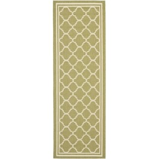 Safavieh Indoor/ Outdoor Courtyard Green/ Beige Rug (2'3 x 18')