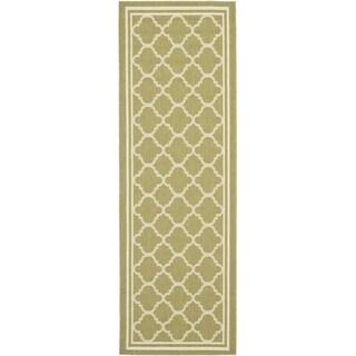 Safavieh Indoor/ Outdoor Courtyard Green/ Beige Rug (2'3 x 20')