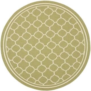 Safavieh Indoor/ Outdoor Courtyard Green/ Beige Rug (7'10 Round)