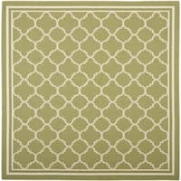 "Safavieh Indoor/ Outdoor Courtyard Green/ Beige Rug - 5'3"" x 5'3"" square"