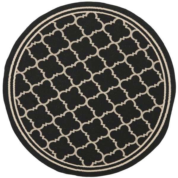 Shop Safavieh Indoor Outdoor Courtyard Black Beige