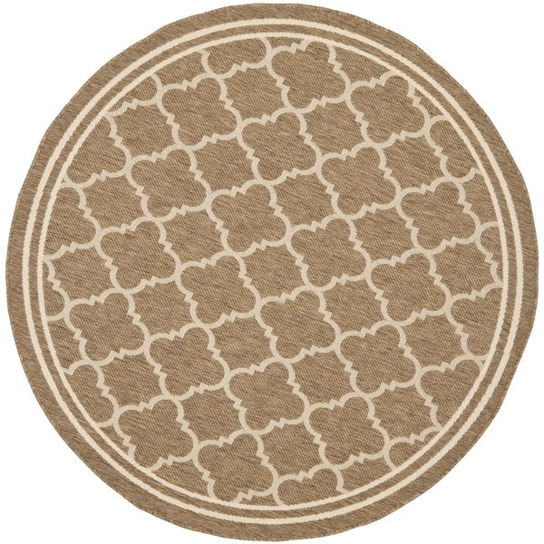 Shop Safavieh Indoor Outdoor Courtyard Brown Bone Rug