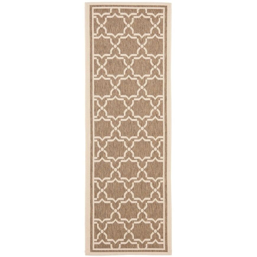 Safavieh Indoor/outdoor Courtyard Brown/bone Runner Rug (24 X 14)