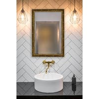 Hitchcock Butterfield Georgian V Beaded Large Gold Mirror