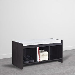 Altra Penelope Espresso Entryway Storage Bench with Cushion